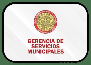 gerencia de servicios municipales